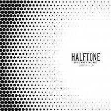 ハーフトーングラデーションドットパターンの背景 ベクター画像 無料