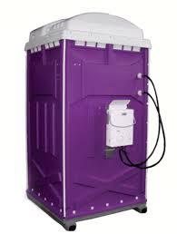 single hot shower stall