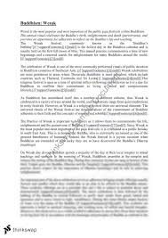 wesak essay year hsc studies of religion i thinkswap wesak essay