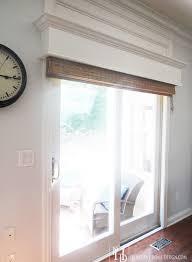sliding glass door blinds white