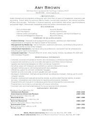 Example Of Accountant Resumes Staff Accountant Resume Emelcotest Com