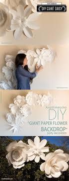 diy giant wall flower decor diy wedding decoration inspo we love this idea creating bi on