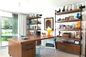 mid century modern shelf industrial office desk home with modernism standard bookcases partners floating shelves