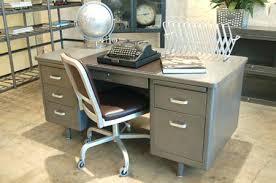 Office desk vintage Industrial Steel Office Desk Vintage Metal Office Desks For Sale Steel Office Desk Vintage Metal Office Desks For Sale Novelfoodinfo