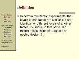 Split Plot Design Example Ppt Design Of Experiments Nested Designs Split Plot
