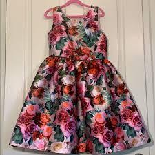 Pippa And Julie Size Chart Pippa Julie Girls Floral Print Dress