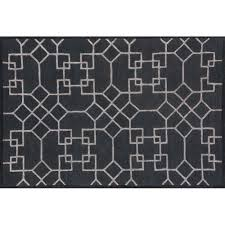loloi panache 7 6 round wool rug in charcoal and silver only