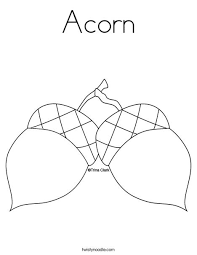 A Is For Acorn Coloring Pages Coloring Book