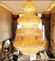 modern duplex villa stairs k9 crystal big chandelier lighting fixture 91809