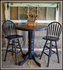 table bar height chairs diy: distressed black bar top table and chairsdiytutorialold doorrustic