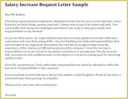 Salary Increase Proposal Sample Salary Increase Request Letter Template Metabots Co