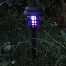 Zonne Energie Led Muggenmepper Insect Killer Lamp 4 Stuks