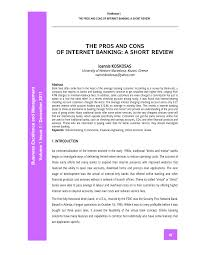 Meaning of bankers' acceptances as a finance term. Pdf The Pros And Cons Of Internet Banking A Short Review