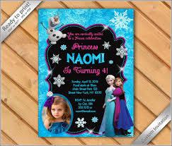 Frozen Birthday Invitations Wording Disney Frozen Birthday