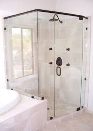 neo angle with notched panel mira mesa framed glass shower door