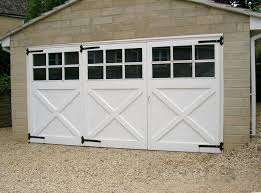 hinged garage doors vertical tgv and frame glazed 4 panes to 2440