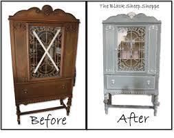 vibrant idea painted china cabinet blue white vintage hometalk