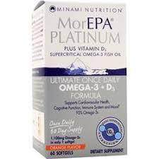 minami nutrition morepa platinum ultimate once daily omega 3 d3 orange flavor 1100