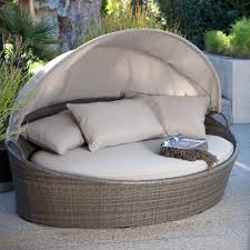 wonderful creative living moorea all weather wicker cabana day bed with canopy com