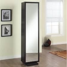 Modern Black Free Standing Linen Closet With Mirrored Door of ...