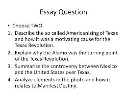 manifest destiny chapter manifest destiny chapter ppt  44 essay question choose two