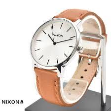 nixon nixon watch porter leather white sun lei x saddle