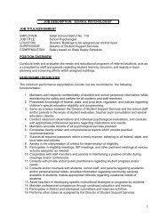Educational Psychologist Job Description Bedford Academy