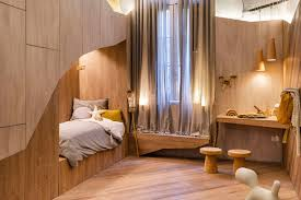 Unique kids bedroom furniture Raymour Drawing Inspiration From The Very Thing The Project Is Named For thebearscave Uses Wood Contemporist This Fun And Unique Kids Room Draws Design Inspiration From Bear