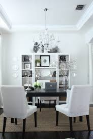 dining room home office. For My Dedicated Office, The Only Thing I Did Was Remove Large Centerpiece And Rearranged Dining Chairs\u2026 Room Home Office