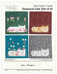 Seasonal Cats Quilt Patterns (set of 4) • The Charley Harper Gallery & Seasonal Cats Quilt Patterns (set of 4) Adamdwight.com