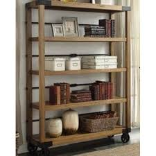 Industrial Bookcase Vintage Portable Bookshelf Display Shelving Rolling  Wheels - Bookcases $500