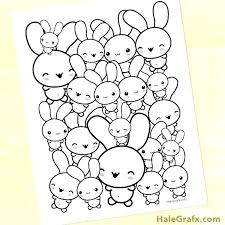 Baby Bunny Coloring Pages Printable Cute Bunnies Jordanschleiderinfo