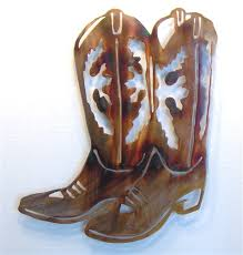 cowboy boot wall art