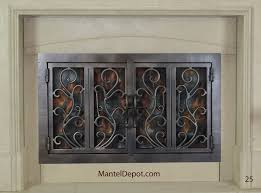 hand forged iron fireplace doors fd025 from mantel depot in san go