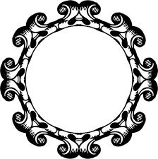 mirror clipart black and white. round mirror frame clipart black and white