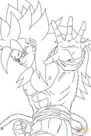Small Picture Super Saiyan 4 coloring page Free Printable Coloring Pages