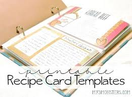 Recipe Cards Print How To Print Recipe Cards Yummy 5 Free Printable Recipe Card
