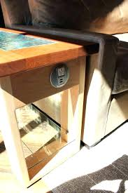 end table with power s side tables with ports a coffee table with fridge speakers led
