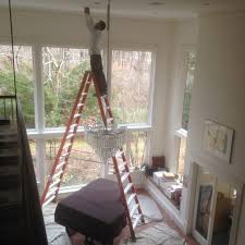 electrician services serving greater philadelphia area chandelier installation photo