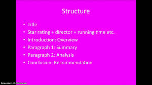 how to write a film review part structure
