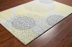 yellow gray area rug luxury stella collection hand tufted area rug in grey