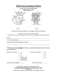 👑 Homecoming shirts are on sale now! 👑... - Lafayette County School  District | Фејсбук