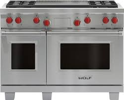 wolf 48 inch range. Perfect Range Wolf 48 Inch Double Oven Dual Fuel Range  Stainless Steel  FuelDF484DG With Inch Trail Appliances