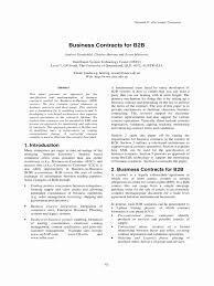 Agreement Between Two Or More Parties New Example Business Contract