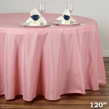 120 rose quartz whole polyester round tablecloth for wedding banquet restaurant