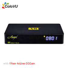 Android Smart TV Box FreeSat V8 Angel + 1Year 4cLine CCCam Account for  Europe DVB-S/S2/T2/C Combo support 3G IPTV