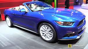 2015 ford mustang convertible. 2015 ford mustang convertible exterior and interior walkaround 2014 paris auto show r