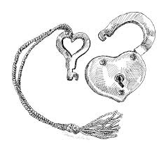 lock and key drawing. Wonderful And Key Drawing  Heart Lock And By Dominic White To E