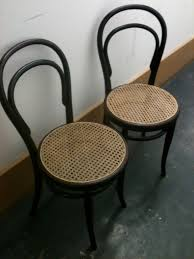 classic thonet bentwood cane cafe chairs