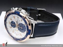 casio edifice chronograph genuine leather band mens watches efr 539l 7cv efr539l